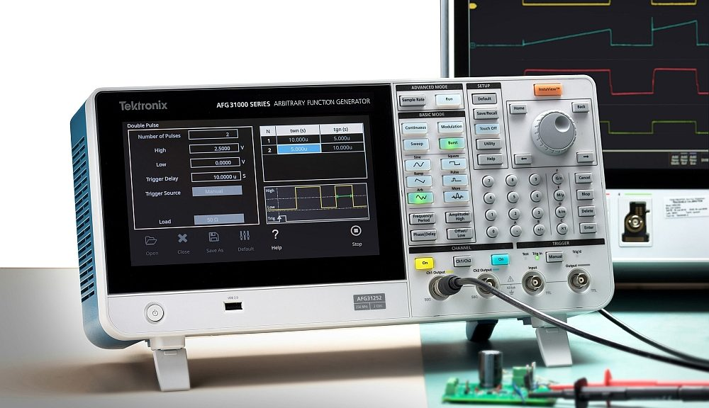 Double pulse test with the Tektronix AFG31000 generator