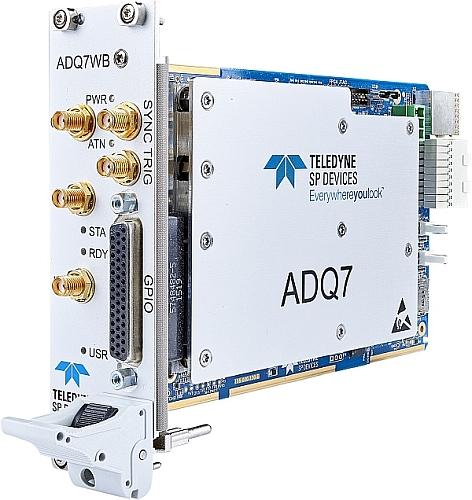 Teledyne SP Devices' PXIe ADQ7WB card digitizer.