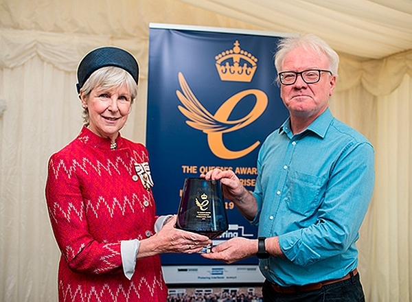Queen's Award: H.M. Lord Lieutenant Jennifer Tolhurst and Keith Moore, CEO of Pickering.