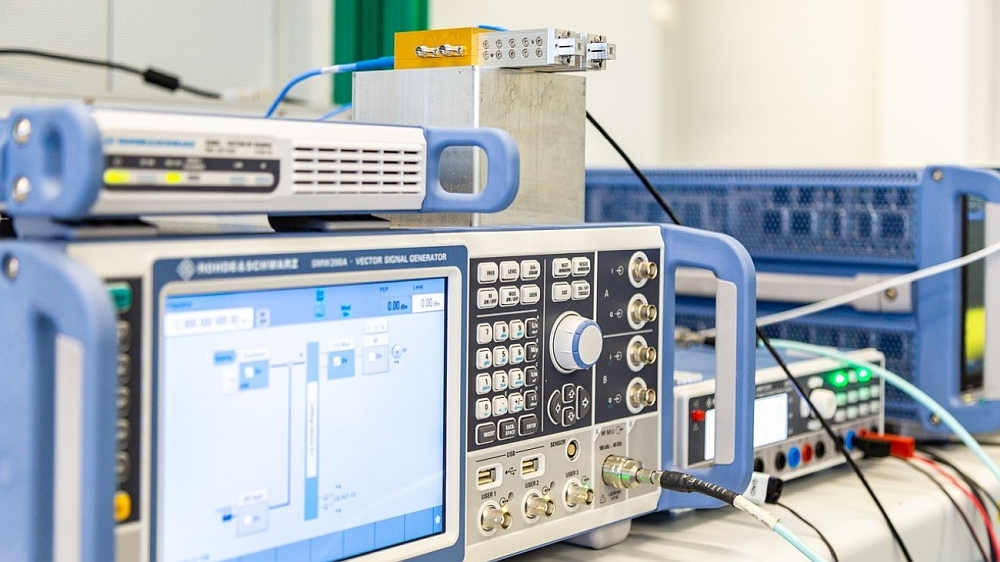 THz transmission system for 6G telecommunications from Rohde & Schwarz.