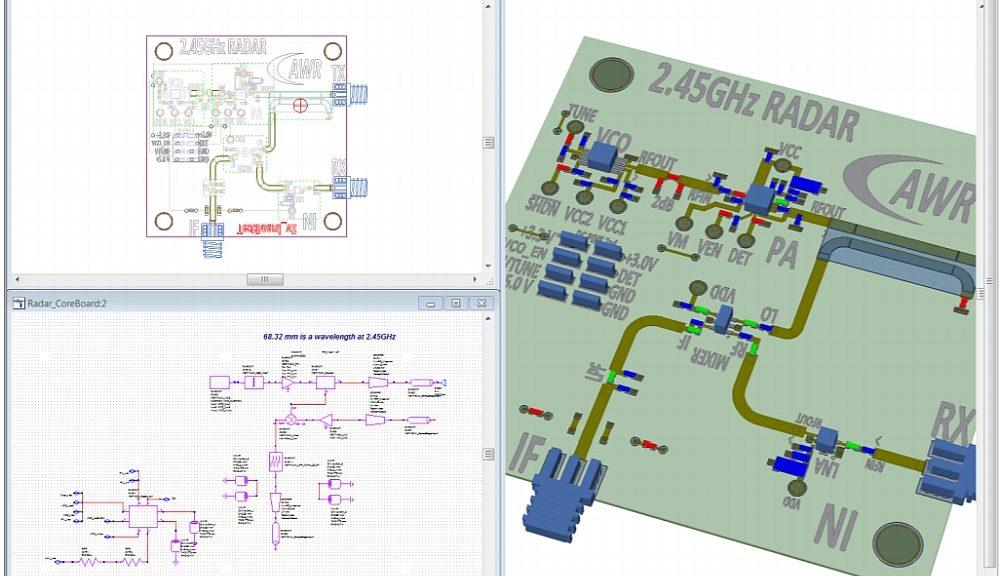 AWR design software.