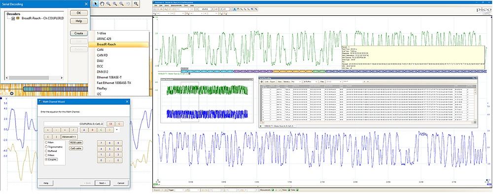 Pico Technology's BroadR-Reach decoder/analyzer.
