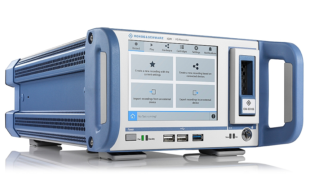 R&S IQW100 I/Q data recorder from Rohde & Schwarz.