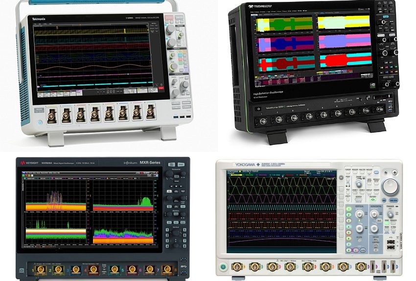 8-channel oscilloscopes on the market