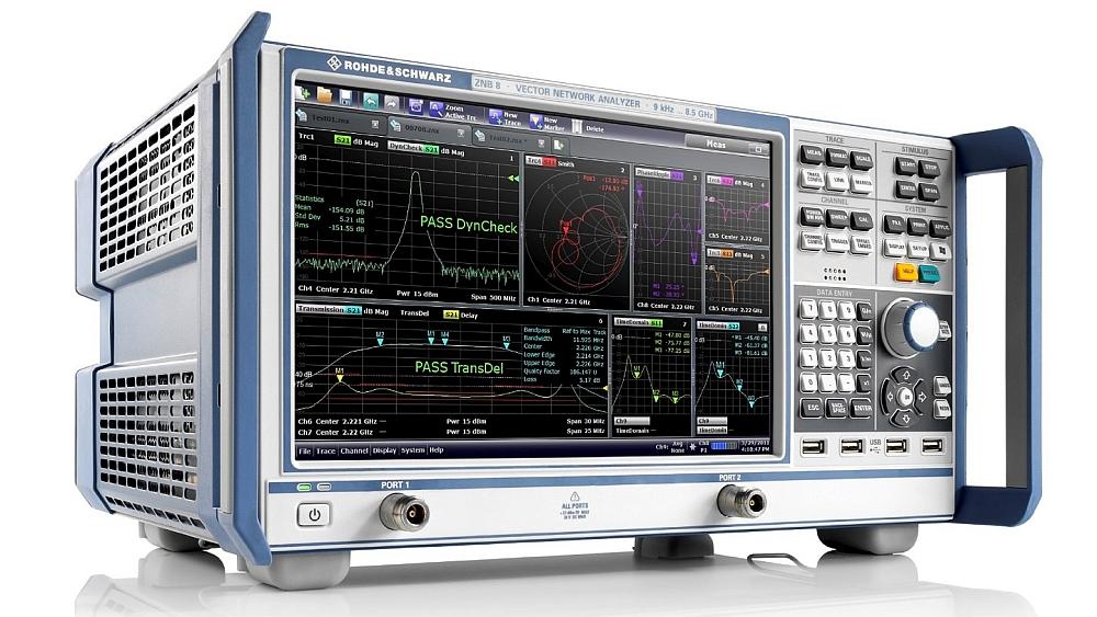 R&S ZNB vector network analyzer from Rohde & Schwarz.