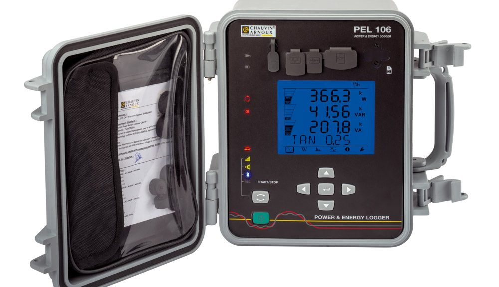 PEL106 electrical data logger from Chauvin Arnoux