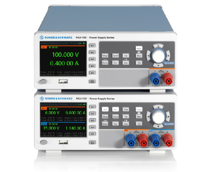 R&S NGA100 laboratory power supplies from Rohde & Schwarz