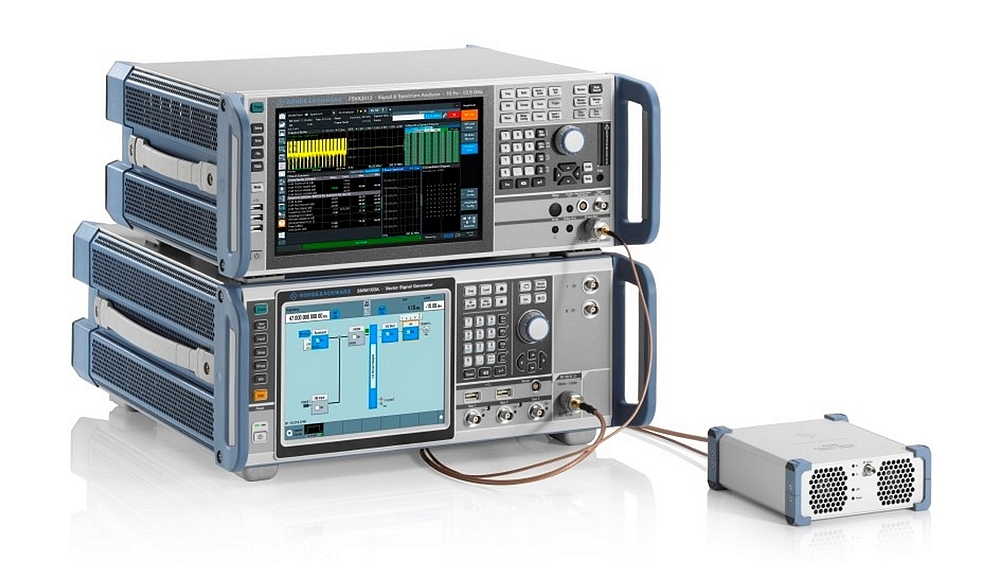 R&S SMM100A vector signal generator and R&S FSVA3000 signal and spectrum analyzer from Rohde & Schwarz