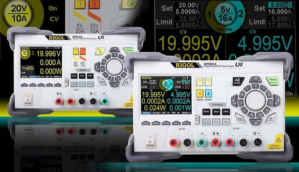 Rigol DP813(A) and DP822(A) DC Power Supplies