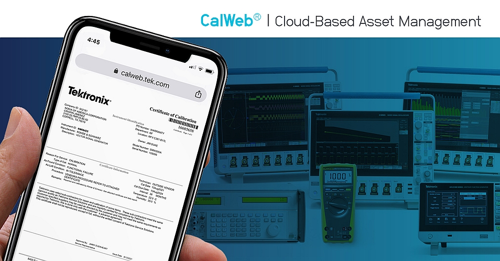 Tektronix' CalWeb Cloud instruments management solution.